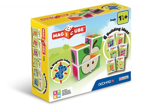 Kids Children Geomag 131 Magicube Fruit Building Magnetic Cube Gift Toy Set